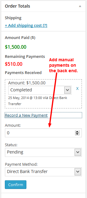 manual payments